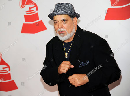 Poncho Sanchez arrives at the Latin Recording Academy Person of the Year tribute, in Las Vegas