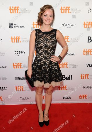 "Shannon Maree Walsh arrives at the premiere of ""Can A Song Save Your life"" on day 3 of the Toronto International Film Festival at The Princess of Wales Theatre, in Toronto"
