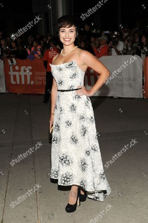 "Kat Steffens arrives at the premiere of ""Parkland"" on day 2 of the Toronto International Film Festival at Roy Thomson Hall, in Toronto"