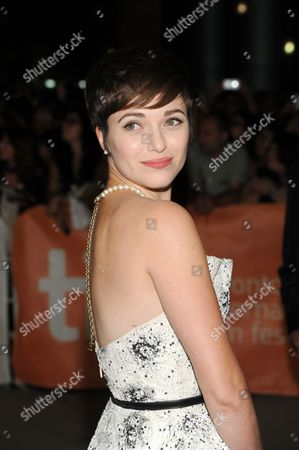 "Stock Image of Kat Steffens arrives at the premiere of ""Parkland"" on day 2 of the Toronto International Film Festival at Roy Thomson Hall, in Toronto"