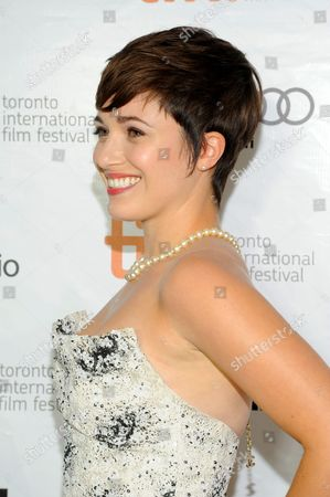"Stock Picture of Kat Steffens arrives at the premiere of ""Parkland"" on day 2 of the Toronto International Film Festival at Roy Thomson Hall, in Toronto"