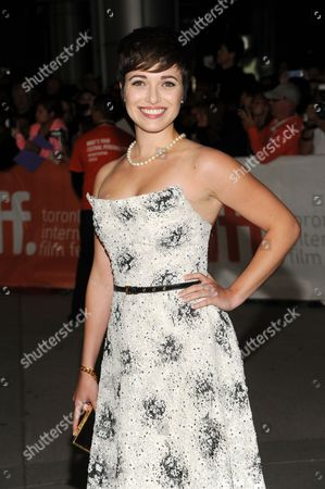 """Kat Steffens arrives at the premiere of """"Parkland"""" on day 2 of the Toronto International Film Festival at Roy Thomson Hall, in Toronto"""