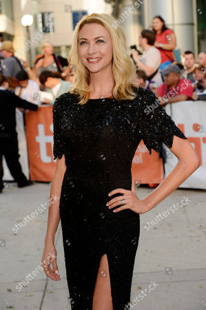 """Jennifer Baxter, a cast member in """"The Right Kind of Wrong,"""" poses at the premiere of the film on day 8 of the 2013 Toronto International Film Festival at Roy Thomson Hall on in Toronto"""