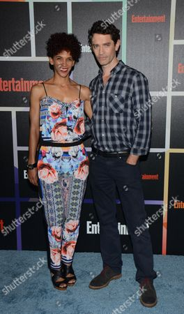Marta Cunningham, left, and James Frain arrive at Entertainment Weekly's Annual Comic-Con Closing Night Celebration at the Hard Rock Hotel, in San Diego, CA