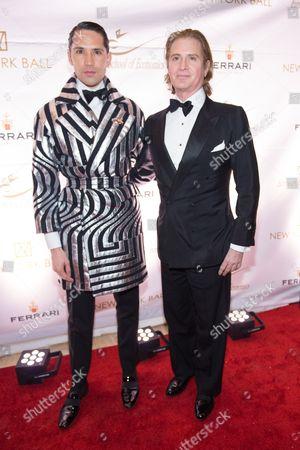 Di Mondo and Eric Javits attend the 20th Anniversary European School of Economics New York Ball benefit at Trump Tower, New York
