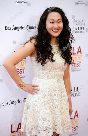 """Stock Picture of Naomi Ko, a cast member in """"Dear White People,"""" poses at a screening of the film at the Los Angeles Film Festival on in Los Angeles"""