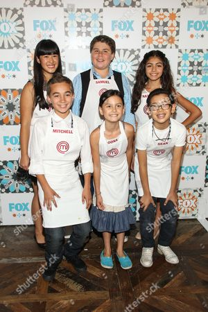 Cast of Master Chef Junior (Berry, Natalie, Sean, Mitchell, Samuel, and Oona) attend the FOX Summer TCA All-Star Party at Soho House on in West Hollywood, Calif