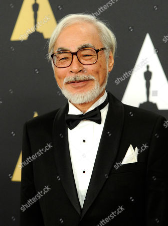 Hayao Miyazaki arrives at the 6th annual Governors Awards at the Hollywood and Highland Center on in Los Angeles