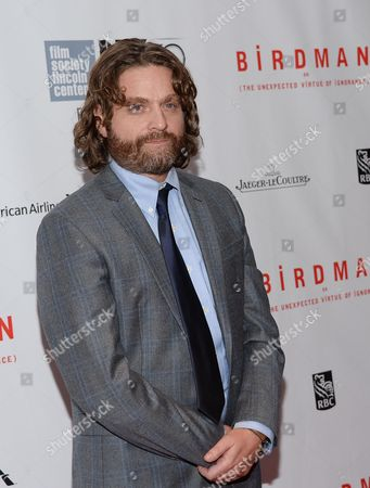 """Actor Zach Galifanakis attends the """"Birdman or The Unexpected Virtue of Ignorance"""" closing night gala screening during the 52nd Annual New York Film Festival at Alice Tully Hall, in New York"""