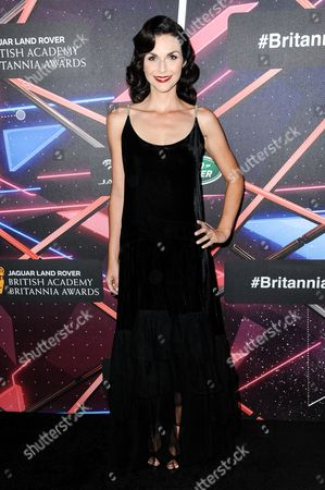 Stock Image of Actress Ceri Bethan attends the 2015 BAFTA Los Angeles Britannia Awards held at the Beverly Hilton Hotel, in Beverly Hills, Calif