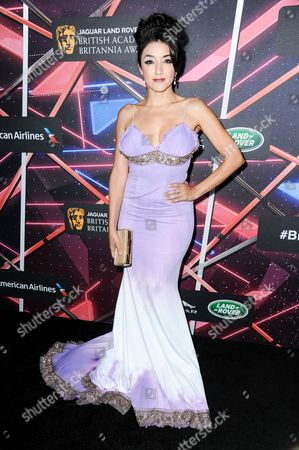 Yvette Yates attends the 2015 BAFTA Los Angeles Britannia Awards held at the Beverly Hilton Hotel, in Beverly Hills, Calif