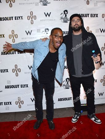 William Lifestyle and Brody Jenner arrive at the Pop Up Boosty Bellows at W Scottsdale hosted by Drake on in Scottsdale, Ariz