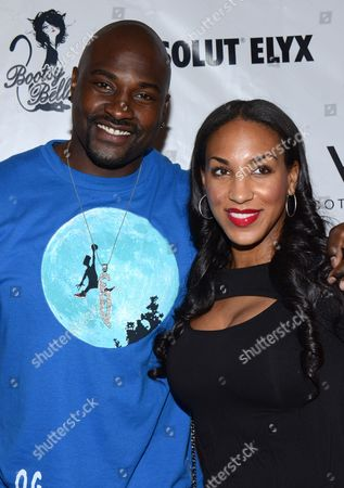 Marcellus Wiley and Anne Marie Wiley arrive at the Pop Up Boosty Bellows at W Scottsdale hosted by Drake on in Scottsdale, Ariz