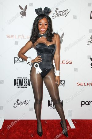 Stock Photo of Miss July 2000 Neferteri Shepherd attends the Playboy and Gramercy Pictures' Self/less party on day 2 of Comic-Con International, in San Diego