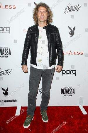 Dave Keuning attends the Playboy and Gramercy Pictures' Self/less party on day 2 of Comic-Con International, in San Diego