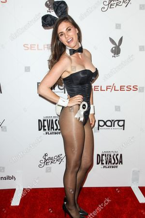 Miss May 2006 Alison Waite attends the Playboy and Gramercy Pictures' Self/less party on day 2 of Comic-Con International, in San Diego