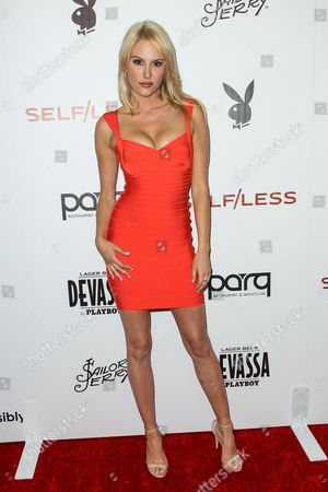 Stock Picture of Jackie Moore attends the Playboy and Gramercy Pictures' Self/less party on day 2 of Comic-Con International, in San Diego