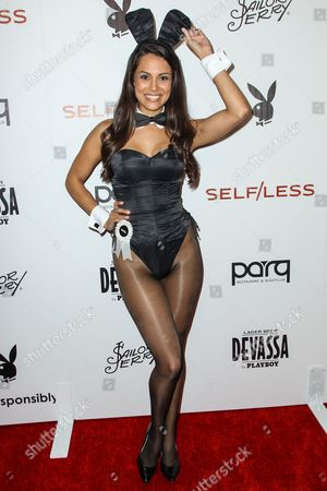 Playmate of the Year Raquel Pomplun attends the Playboy and Gramercy Pictures' Self/less party on day 2 of Comic-Con International, in San Diego