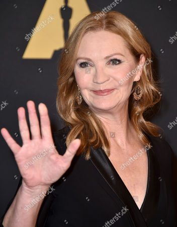 Joan Allen arrives at the Governors Awards at the Dolby Ballroom, in Los Angeles