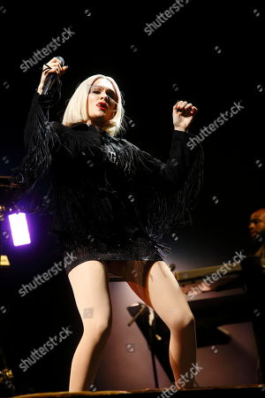 Jesse J performs at Rock in Rio USA at the MGM Resorts Festival Grounds, in Las Vegas