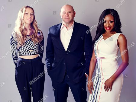 "Gabrielle Dennis, right, Domenick Lombardozzi, center, and Anna Konkle, from ""Rosewood"", pose for a portrait during the Fox 2015 Television Critics Association Summer Press Tour at the Beverly Hilton, in Beverly Hills, Calif"