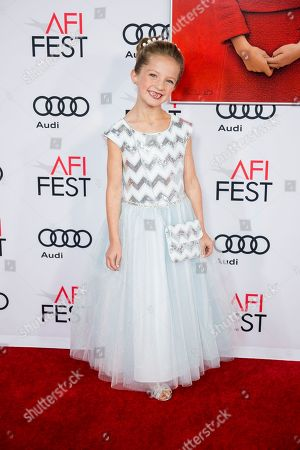 """Stock Photo of Actress Sunnie Pelant arrives at the 2016 AFI Festival """"Jackie"""" Centerpiece Gala at the TCL Chinese Theatre, in Los Angeles"""