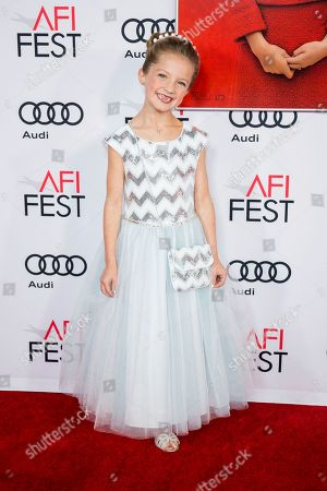 """Stock Image of Actress Sunnie Pelant arrives at the 2016 AFI Festival """"Jackie"""" Centerpiece Gala at the TCL Chinese Theatre, in Los Angeles"""