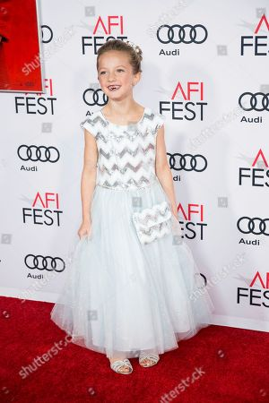 """Stock Picture of Actress Sunnie Pelant arrives at the 2016 AFI Festival """"Jackie"""" Centerpiece Gala at the TCL Chinese Theatre, in Los Angeles"""