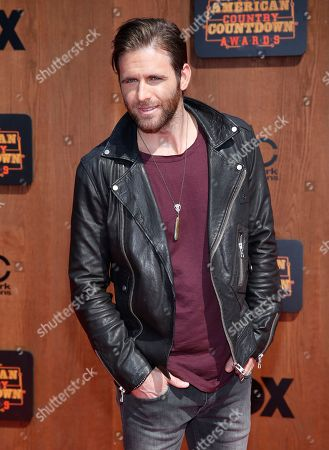 Canaan Smith arrives at the American Country Countdown Awards at the Forum on in Inglewood, Calif