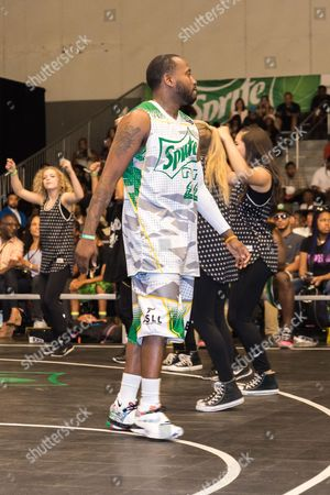 Young Greatness plays at the BET Experience - Sprite celebrity basketball game held at the Los Angeles Convention Center on