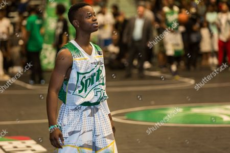 Silento plays at the BET Experience - Sprite celebrity basketball game held at the Los Angeles Convention Center on