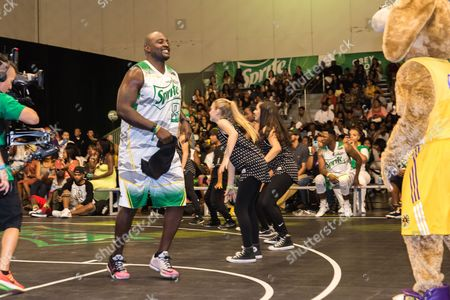 Marcellus Wiley plays at the BET Experience - Sprite celebrity basketball game held at the Los Angeles Convention Center on