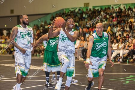 Flex Alexander plays at the BET Experience - Sprite celebrity basketball game held at the Los Angeles Convention Center on