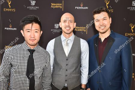 Stock Picture of From left, Steve Terada, Joseph Lee and Brian Hirano attend the 2016 Choreographers Nominee Reception presented by the Television Academy at the Academy's Saban Media Center, in the NoHo Arts District in Los Angeles