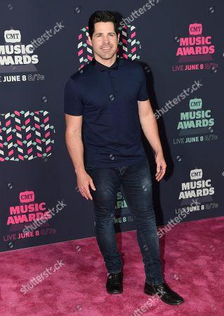 JT Hodges arrives at the CMT Music Awards at the Bridgestone Arena, in Nashville, Tenn