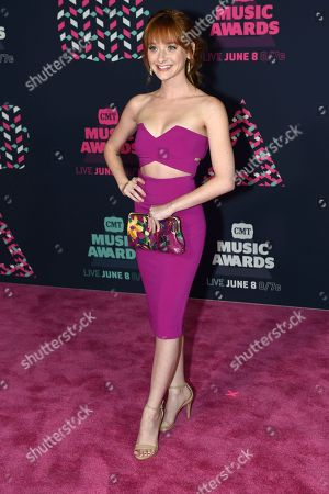 Chelsea Talmadge arrives at the CMT Music Awards at the Bridgestone Arena, in Nashville, Tenn