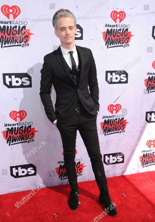 Boy Epic arrives at the iHeartRadio Music Awards at The Forum, in Inglewood, Calif