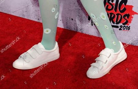 Stock Picture of That Poppy arrives at the iHeartRadio Music Awards at The Forum, in Inglewood, Calif