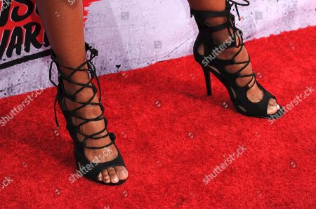Kayla Brianna arrives at the iHeartRadio Music Awards at The Forum, in Inglewood, Calif