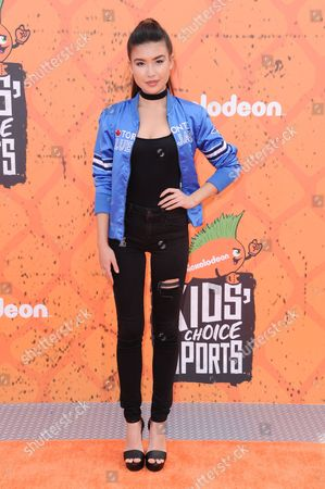 Stock Picture of Erika Tham arrives at the 2016 Kids' Choice Sports Awards held at UCLA's Pauley Pavilion, in Los Angeles