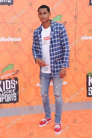 Jordan Clarkson arrives at the 2016 Kids' Choice Sports Awards held at UCLA's Pauley Pavilion, in Los Angeles