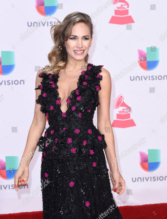 Erika Bruni arrives at the 17th annual Latin Grammy Awards at the T-Mobile Arena, in Las Vegas