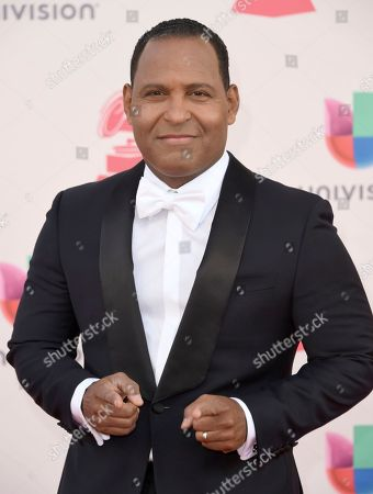 Tony Dandrades arrives at the 17th annual Latin Grammy Awards at the T-Mobile Arena, in Las Vegas