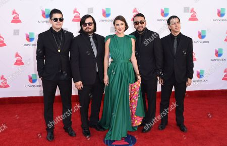 Paulina Reza and the Chamanas arrive at the 17th annual Latin Grammy Awards at the T-Mobile Arena, in Las Vegas