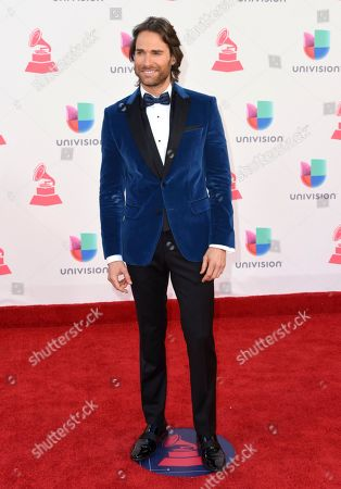 Sebastian Rulli arrives at the 17th annual Latin Grammy Awards at the T-Mobile Arena, in Las Vegas