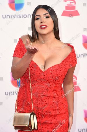 Ydelays arrives at the 17th annual Latin Grammy Awards at the T-Mobile Arena, in Las Vegas