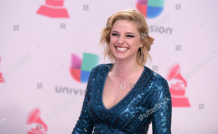 Isabella Prida arrives at the 17th annual Latin Grammy Awards at the T-Mobile Arena, in Las Vegas