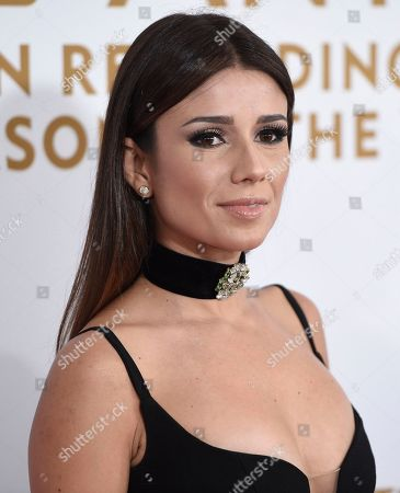 Stock Image of Paula Fernandes arrives at the Latin Recording Academy Person of the Year Tribute honoring Marc Anthony at the MGM Grand Garden Arena, in Las Vegas