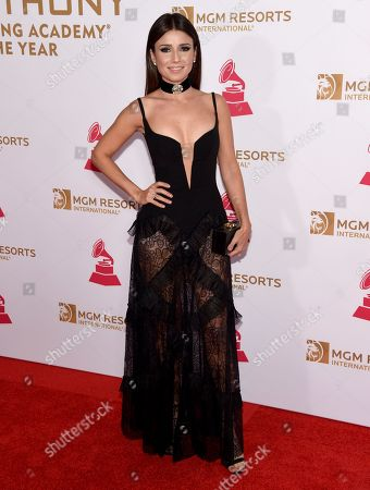 Paula Fernandes arrives at the Latin Recording Academy Person of the Year Tribute honoring Marc Anthony at the MGM Grand Garden Arena, in Las Vegas