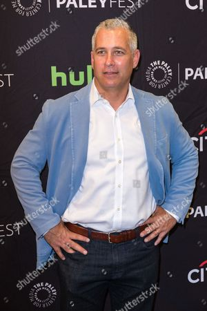 """Aaron Kaplan, executive producer of the television series """"American Housewife"""" arrives at the 2016 PaleyFest Fall TV Previews at The Paley Center for Media, in Beverly Hills, Calif"""